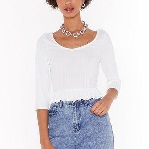 You're Frill The One Crop Top